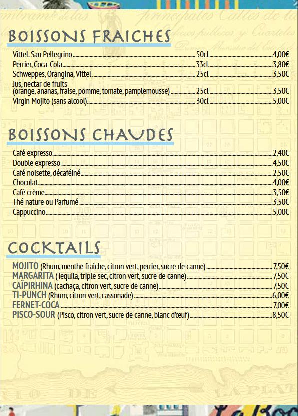 boissons cocktail Le Progres argentin Paris